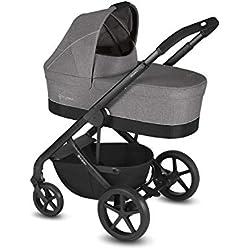 CYBEX Gold - Cochecito Balios S con silla reversible y con capazo Cot S, Incluye adaptador para portabebés, Desde el nacimiento hasta 17 kg (aprox. 4 años), Manhattan Grey