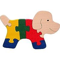 Puzzles bois SPYRA. Puzzles chien en bois 100 % naturels. Fabriqué en Europe. Hêtre et couleurs naturelles