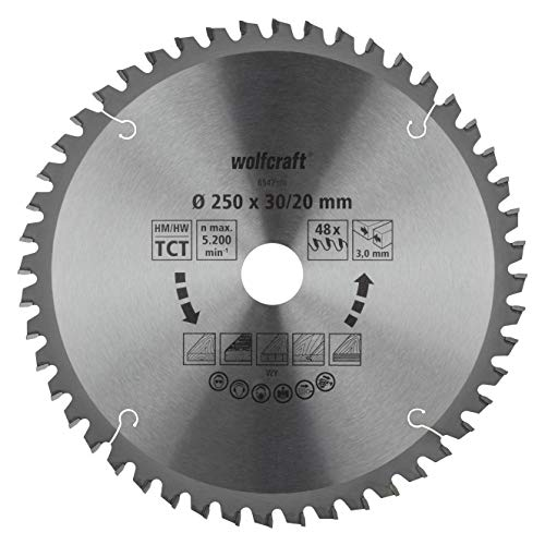 Wolfcraft 6547000 - Hoja sierra tronzadora ingletadora