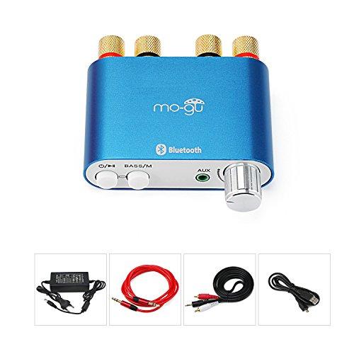 Foto de S800 Mini Bluetooth Amplificador Azul con 12V 5A Euro adaptador de corriente
