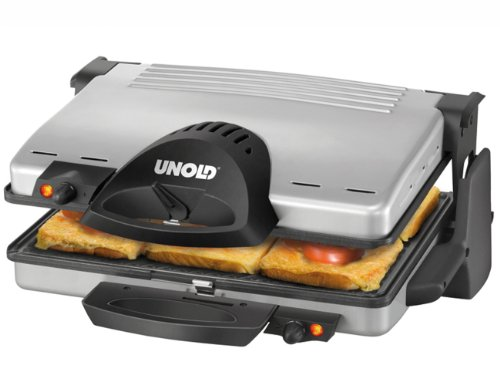 Unold 8555 Contact Grill Silber