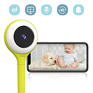 Lollipop HD WiFi Video IP Indoor Camera for Baby, Pet, Home Security (Compatible with iOS & Android)- Supports 2 Cameras and Up, Night Vision, 2-Way Talk Back- Baby Boy Girl Shower Gifts (Pistachio)   9