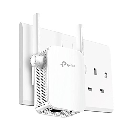 Price comparison product image TP-Link AC1200 Universal Dual Band Range Extender,  Broadband / Wi-Fi Extender,  Wi-Fi Booster / Hotspot with 1 Ethernet Port and 2 External Antennas,  Built-in Access Point Mode,  UK Plug (RE305)