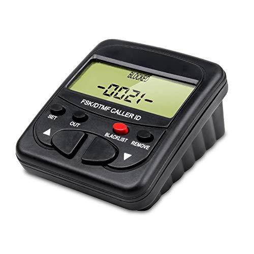 Telpal fisso Call Blocker per telefono fisso con display chiamante, Dual segnale FSK/DTMF, 1500number Capacity-Blocco nascosto numeri, Telemarketer Moleste, chiamate