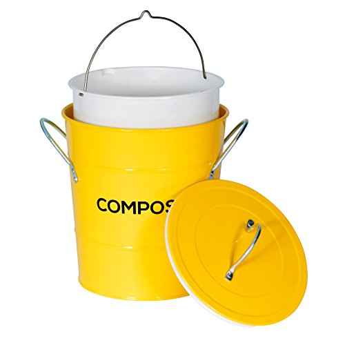 Zoom IMG-3 metal kitchen compost caddy composting