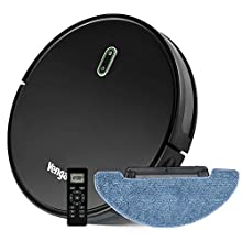 Robot Vacuum Cleaner 3-in-1 sweep, vacuum and mop, with water tank, One-Key Planning Technology, 6 cleaning modes, Auto-charging, Anti falling, Venga! VG RVC 3000 BK BS