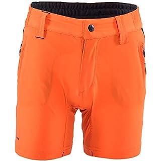 SILVINI Kinder Arvo MTB Kurze Hose mit 2 Seitentaschen und Schutz Reflektierende Elemente Orange - 134-140