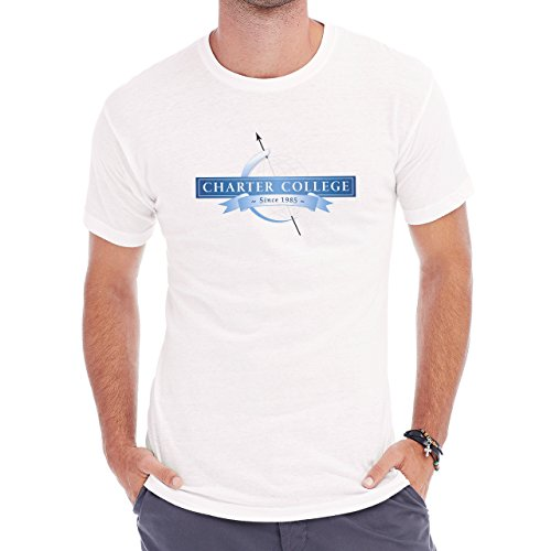Welcome To Charter College Learning Space Herren T-Shirt Weiß