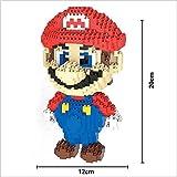 Figura Super Mario Bros Juego Bloques de construcción tamaño 20 cm DIY Mini Building Puzzle...