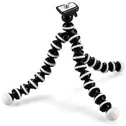 Emate - Snap et Wrap - Tête ronde pivotante à 360°, pieds flexibles en forme de vertèbres avec bouts en caoutchouc pour un confort extrême et des possibilités infinies - Noir et blanc