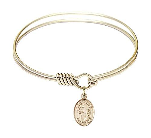 6-1-4-inch-round-eye-hook-bangle-bracelet-with-a-st-brendan-the-navigator-charm