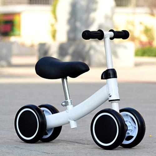 Hejok Laufrad Angels, Sport Balance Bike Kinder-Allrad-Laufrad Scooter Yo Car 1-3 Jahre Kein Pedal Twist Car Baby Walker, White -