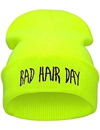 Demarkt Bonnet Bad Hair Day pour Homme Femmes Mode Chapeaux Hiphop Hat Taille Unique Multicolore