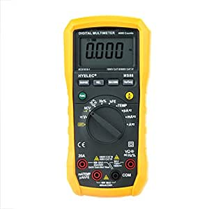 Smart Sale HYELEC MS86 Professional Auto and Manual Range/Digital Multimeter/Temperature Test/Relative Multifunction Ammeter Multitester
