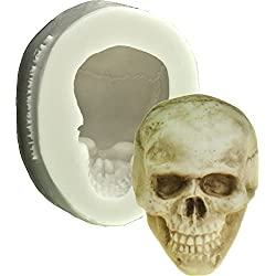 3d de calavera molde de silicona Sugarcraft FPC | molde de molde de resina, cera, jabón molde, molde de Fimo, Craft molde