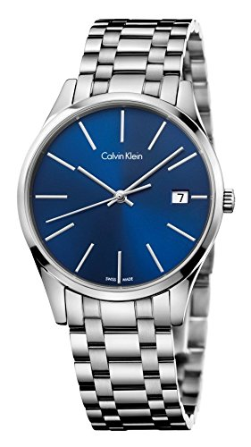 Orologio Calvin Klein Donna K4N2314N Al quarzo (batteria) Acciaio Quandrante Blu Cinturino Acciaio