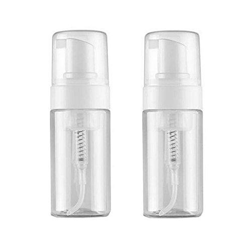 Dispensador de espuma de plástico vacío rellenable de 100 ml, 2 unidades, para cosméticos, loción, maquillaje, champú, limpiador facial, jabón líquido, soporte de espuma, contenedor, botes de tarro