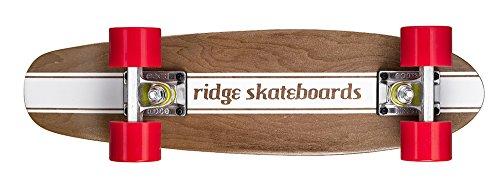 Ridge Maple Holz Mini Cruiser Number Four Skateboard, Red, MPB-22-NR4 (Holz-cruiser Skateboard)