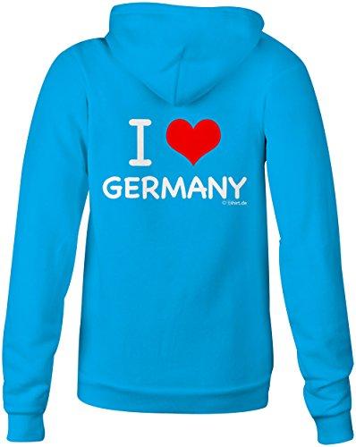 I Love Germany ★ Confortable veste pour femmes ★ imprimé de haute qualité et slogan amusant ★ Le cadeau parfait en toute occasion hellblau