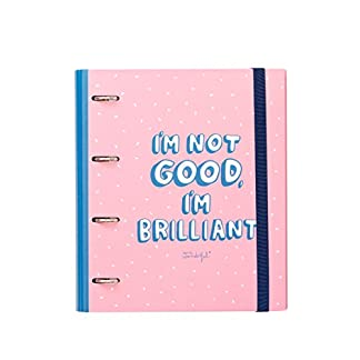 Mr. Wonderful WOA09066EM – Carpeta con anillas con diseño I'm not good. I'm brilliant!