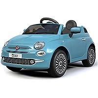 B90106 Coche eléctrico para niños FIAT 500 cabrio asiento cuero 12V Teledirigido ...