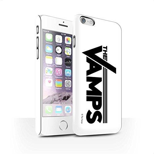 Offiziell The Vamps Hülle / Matte Snap-On Case für Apple iPhone 6S / Pack 6pcs Muster / The Vamps Graffiti Band Logo Kollektion Weiß/Schwarz
