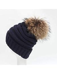 FRGVSXZCX Moda Cappelli Invernali Super 15 cm di Capelli Veri trecce  Decorativi in Lana Cappelli da Donna Berretti… 3ae9c0489780