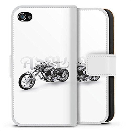 Apple iPhone X Silikon Hülle Case Schutzhülle Motorrad tribal harley Sideflip Tasche weiß