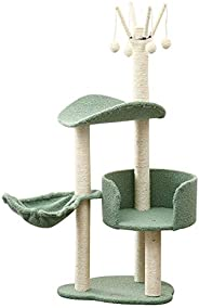 Cat Climbing Frame, Solid Wood Sisal Scratching Board, Cat Litter With Scratching, Cat Villa, One-Piece Cat Ho
