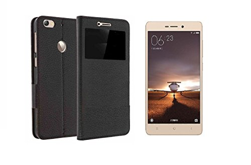 Karirap Top Quality imported flip cover for Redmi 3s Prime - Black
