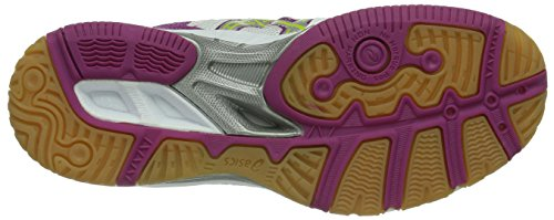 Asics Gel Task, Chaussures de volleyball femme Blanc (Hite/Silve)