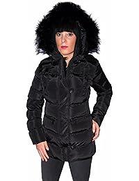 Softly Damen Winterjacke mit abnehmbarer Fellkapuze Parka Steppjacke 7807 in 4 Farben