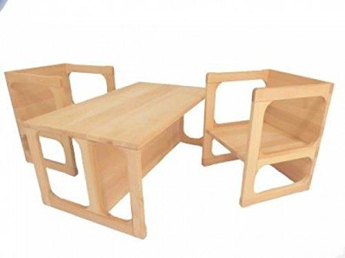 Kindermöbelset 8038 vielseitig einsetzbar | Wendemöbel stabil und zeitlos | Kinderzimmermöbel aus 18mm massivem Buchenholz | robust, für Kindergarteneinsatz geeignet | handgefertigt...