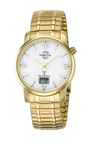 Master Time Funk Quarz Herren Uhr Analog-Digital mit Edelstahl Armband MTGA-10312-12M