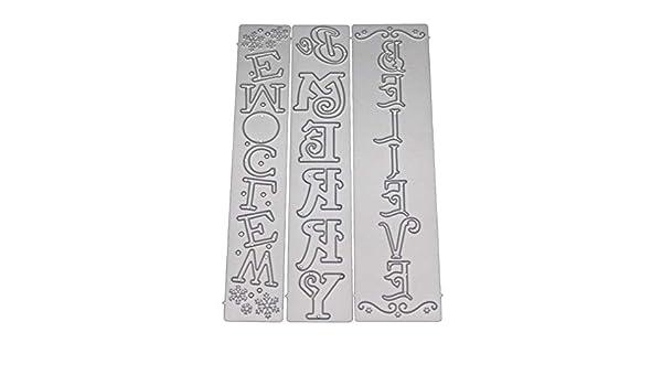 scrapbooking cartes Matrices de d/écoupe 3D en m/étal pour bricolage gaufrage Argent/é
