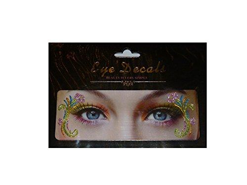 Augen Tattoo Eye Shadow lidschatten mit Glitzer 4,5x2cm (Tattoos Up Temporäre Augen Make)