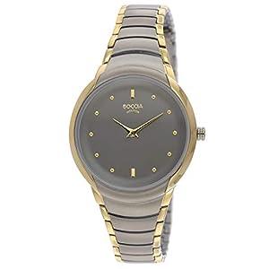 59d35b941ce537 Boccia Damen Analog Quarz Uhr mit Titan Armband 3276-13