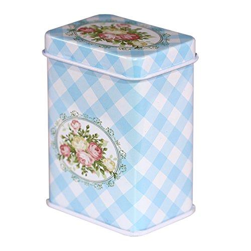 CARMANI - Rose Variation Sammlerstück Mini Metall Trinket Tobacco Süßigkeiten Zinn Schmuck Fall Münze Teebehälter Micro Schatz Aufbewahrungsbox mit Deckel -