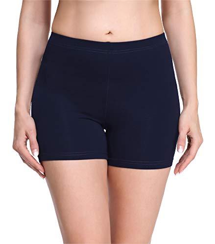 Merry Style Damen Shorts Radlerhose Unterhose Hotpants Kurze Hose Boxershorts aus Viskose MS10-283 (Marineblau(Shorts), XL)