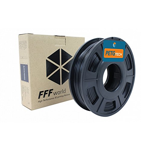 PETG Tech 250 g. Black 1.75 mm High performance P.E.T.G. Filament for 3D Printer