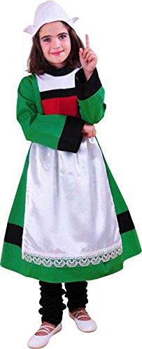 becassine Kostüm für Kinder, Gr. 116 cm, 4/5 Jahre