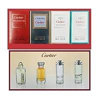 Cartier 4-Piece Mini Variety Set for Men (Declaration, L'envol, Eau de, Eau de Concentree), 4 x 5 ml