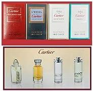 Cartier 4-Piece Mini Variety Set for Men (Declaration, L'envol, Eau de, Eau de Concentree), 4 x