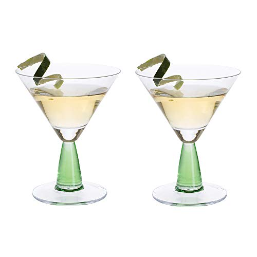Dartington Crystal Gin Connoisseur Martini Grün, 1 Paar Purple Martini-gläser