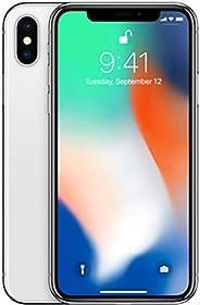ابل ايفون X بدون تطبيق فايس تايم - 64 جيجا, الجيل الرابع ال تي اي, فضي