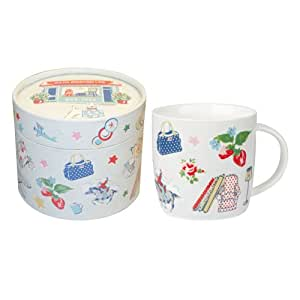 cath kidston geburtstags tasse 285 ml feines porzellan in geschenkbox k che. Black Bedroom Furniture Sets. Home Design Ideas