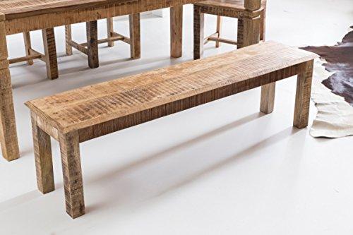Panca Per Cucina Rustica : Kadimadesign pranzo in legno massiccio mango bank rustica