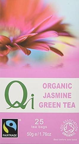 Qi Organic Jasmine 25 Teabags (Pack of 6, Total 150