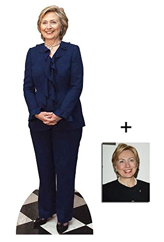 Hillary Clinton Lebensgrosse Pappaufsteller mit 25cm x 20cm foto (Klappe Bill Große)