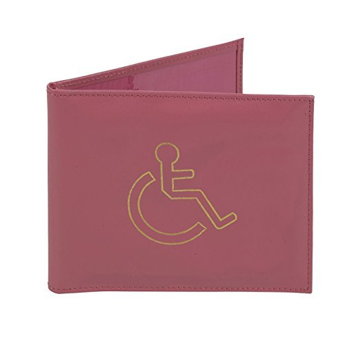 Price comparison product image PINK LEATHER DISABLED BADGE AND TIMER PARKING PERMIT HOLDER